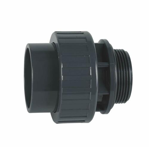 """50 x 1/"""" 1//2 PVC 3//3 Fitting with O-Ring-Adhesive Connector x Male Thread"""