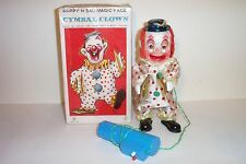 1960's BATTERY OPERATED HAPPY N SAD MAGIC FACE CYMBAL CLOWN TIN LITHO TOY JAPAN