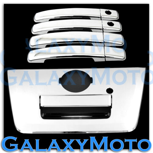 Chrome 4 Door Handle+PSG KEYHOLE+FULL Tailgate Cover for 04-12 Nissan Frontier