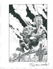 BERNI WRIGHTSON werewolf 1978 NCS PORTFOLIO hand signed & numbered lithograph