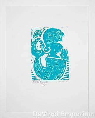 Mark T. Smith Mermaid Signed Limited Edition Linocut Block Print