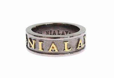 US13//EU68 Nuevo $250 Nialaya Anillo Auténtico Para hombre 925 plata esterlina Crest S