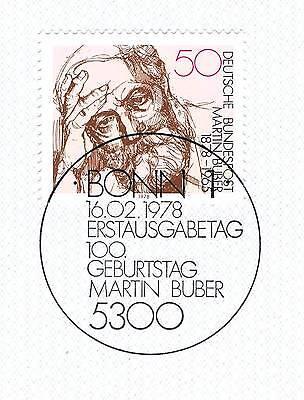 Brd 1978: Martin Buber Nr. 962 Mit Dem Bonner Ersttags-sonderstempel! 1a! 153