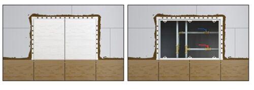 Revisionstür Revisionsklappe magnetisch befliesbar 300 x 150mm