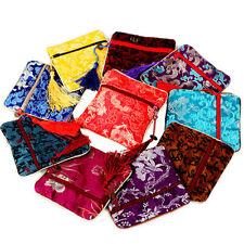 wholesale 10 pcs zipper brocade zero wallet silk Jewelry bags Pouch Purse
