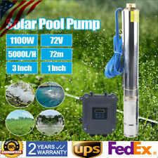 3 Dc Deep Well Solar Water Pump 72v 1100w Bore Hole Submersible With Mppt 5000lh