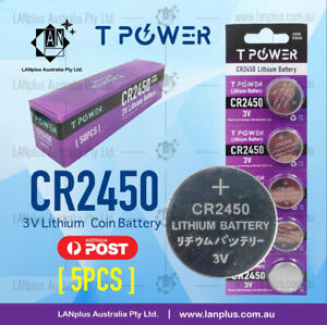 5-x-CR2450-3V-Lithium-Battery-STOCK-IN-Melbourne-Button-Coin-Cell-CR-2450