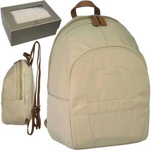 AIGNER-leichter-Damen-Rucksack-Nylon-SPORTSWEAR-Tasche-Natur-City-Backpack-NEU