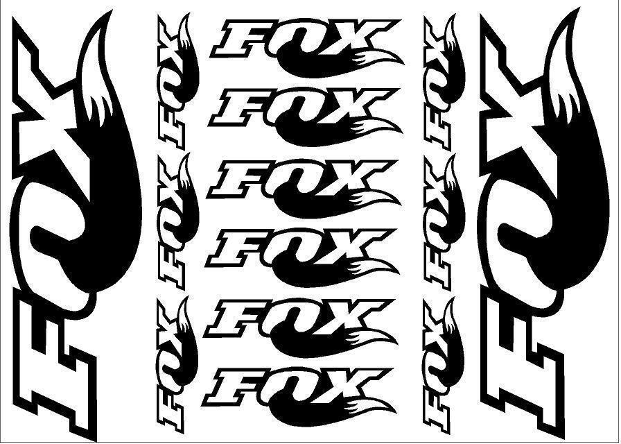 Fox Racing Racing Racing Shox Die-Cut Decal/Autocollant Feuille (cyclisme, vtt, bmx, Route, Vélo) 38837f