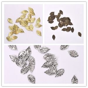 100pcs-lot-Sliver-Gold-Brass-Color-Leaves-Hairpin-Jewelry-DIY-Findings-18-10mm