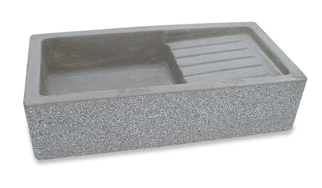 BONFANTE Lavello Acquaio da muro cemento marmo ETNA Grigio Bardiglio Lavato