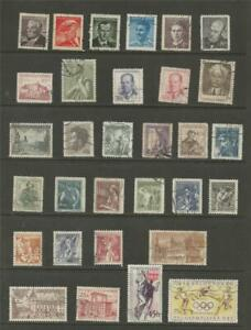 CZECHOSLOVAKIA-1949-1956-SELECTION-USED