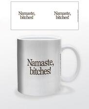 NAMASTE, BITCHES! 11 OZ COFFEE MUG TEA CUP CALM MOTIVATION SPIRITUAL FUNNY LOL!!