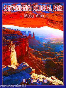Canyonlands National Park Utah United States Travel Advertisement Art Poster
