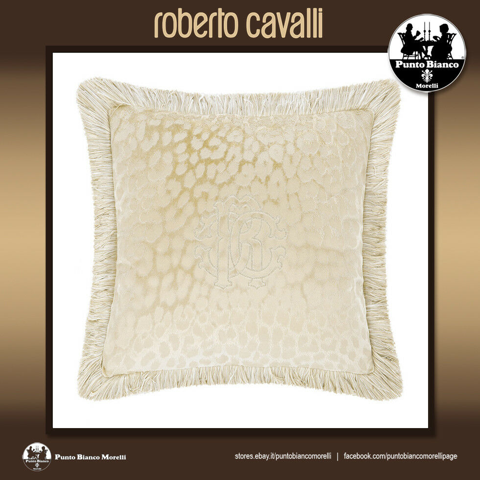 ROBERTO CAVALLI HOME   MONOGRAM Cuscino tortora - Dove grau cushion