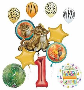 Lion-King-Party-Supplies-1st-Birthday-Balloon-Bouquet-Decorations
