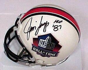 Jim Langer Signed Hall of Fame Mini Helmet with COA