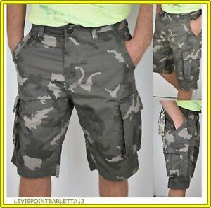 f9f7f6d48a3d Caricamento dell'immagine in corso Bermuda-con-tasconi-da-uomo -shorts-tasche-laterali-