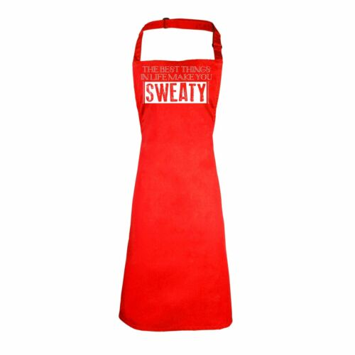 123t THE BEST THINGS IN LIFE MAKE YOU SWEATY Adult Kitchen Funny PREMIER APRON