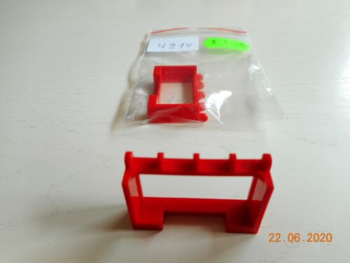 Fahrzeugdachhalter 1x4x2 2x Lego 4214 Scharnier - rot Finger