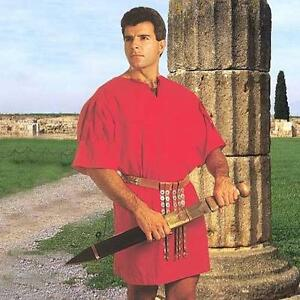 roman soldier warrior legionaire red roman tunic new ebay