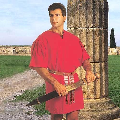ROMAN SOLDIER Warrior Legionaire Red ROMAN TUNIC New