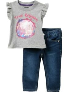 True-Religion-12M-baby-girl-T-shirt-amp-Jeans-Set-MyTrue-Moon-2-pcs-NWT-new