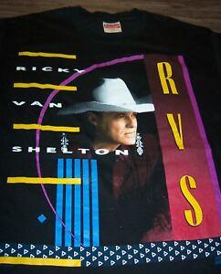 Details about RETRO RICKY VAN SHELTON TOUR T-Shirt LARGE