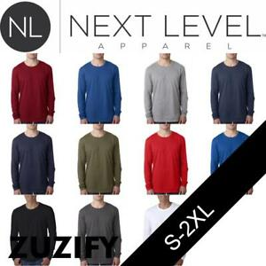 20f6972cd013 Next Level Apparel Mens Fitted Long-Sleeve Crew T-Shirt. 3601 | eBay