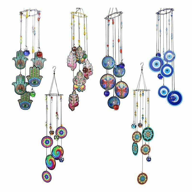 Wind Chimes Dream Catcher Wall Hanging Decoration Outdoor Home Window Ornament