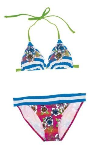 Olympia Bandeau Bikini Set Gr.36,38,42 Cup-A NEU Blau//Bunt Damen Softcups 2Tlg