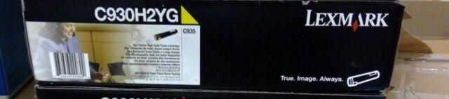 Genuine Lexmark C930H2YG High Yield Yellow Toner Cartridge - NEW SEALED IN BOX