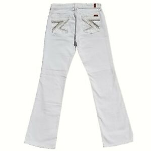 30 Bianco Jeans Mankind 7 New Bottoni Flynt Taglia Svasati 295 All Con For Tasche 1xznq0F