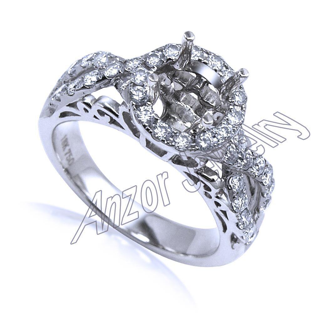 Diamond Engagement Ring Semi-Mount in 14k White gold  R1843