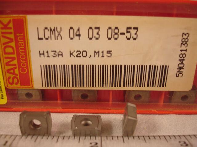 LCMX 04 03 0853 H13A SANDVIK Carbide  Inserts (10pcs) 1358