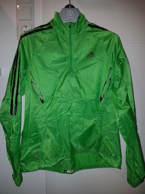 Gr. 38 adidas ADIZERO ClimaProof Damen Laufjacke hauchdünn grün neu ohne Etikett