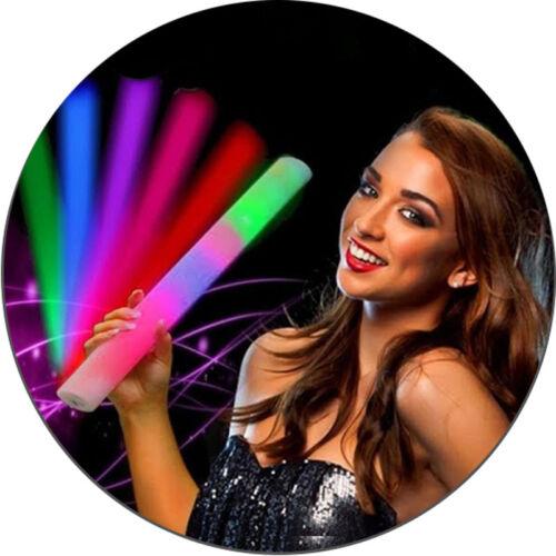 Dom i Meble 5x LED Schaumstoff Glowstick mit Farbeffekten PartylichtLeuchtstabStab