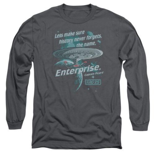 Star Trek TNG HISTORY NEVER FORGETS Name Enterprise Long Sleeve T-Shirt S-3XL