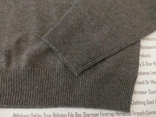 HACKETT LambsWool Jumper Mens XL//XXL Grey Hth Pullover V-Neck OT Top BNWT R£100