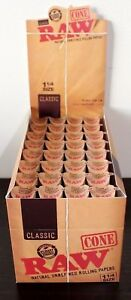 RAW-Classic-Pre-Rolled-Cones-1-1-4-Rolling-Papers-Box-32-Packs-192-Cones-Sealed