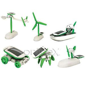 Juguete Robot Solar 6 en 1 Ecológico (Perro, Coche, Barco...) a1311