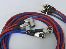 4x2,0 Meter XLR auf Profi Cinch Kabel Cinchkabel für Revox PR99 Studer A67 B67