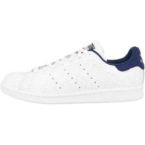 Adidas Stan Smith Women Schuhe Retro Klassiker Damen Sneaker white indigo CQ2819