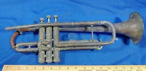 1947-C-G-Conn-Trumpet-367456-Swing-Jazz-Era-Parts-Repair