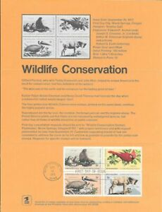 1464-1467-8c-Wildlife-Conservation-Stamp-Poster-Unofficial-Souvenir-Page-Fd-HC