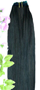 DOUBLE-WEFT-Black-Human-Hair-Extension-Weft-Full-Head-1