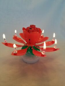 Amazing Lotus Flower Musical Birthday Candle Buy Support Usa