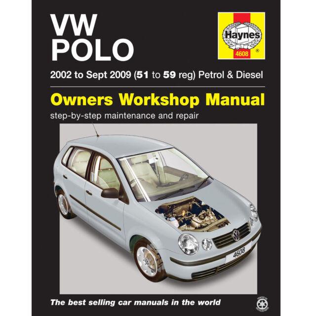 New Haynes Manual VW Polo 02-09 Car Workshop Repair Book 4608 Volkswagen Fix