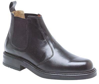 Stiefel WohltäTig Mens Size 7 Black Soft Leather Roamer Slip On Chelsea Dealer Boots Neueste Mode Herrenschuhe