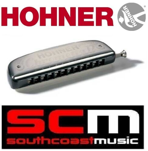BRAND NEW HOHNER CHROMETTA 12 255 /48 KEY OF C HARMONICA BLUES / FOLK HARP